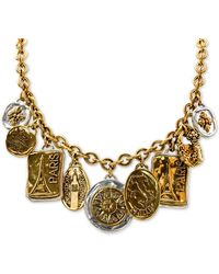 "Patricia Nash Two-tone Travel Charm 20"" Strand Necklace - Metallic"