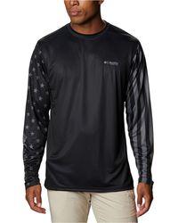 Columbia Terminal Tackle Pfg Long-sleeve Shirt - Black