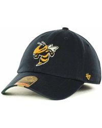 new concept e680f 47679 KTZ Georgia Tech Yellow Jackets Ncaa Black On Black With White 59Fifty Cap  in Black for Men - Lyst