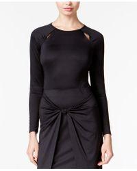 Kensie - Long-sleeve Cutout Bodysuit - Lyst