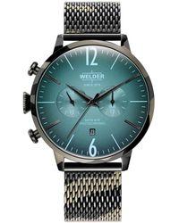 Welder Camo Stainless Steel Mesh Bracelet Watch 47mm - Multicolor