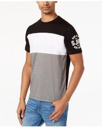 Sean John   Men's Pieced Colorblocked Logo-print T-shirt   Lyst