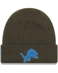 buy popular fca18 73e87 KTZ Detroit Lions Salute To Service 59fifty Fitted Cap in Green for Men -  Lyst