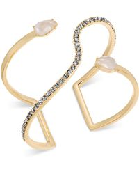 INC International Concepts - I.n.c. Gold-tone Crystal & Imitation Pearl Open Cuff Bracelet, Created For Macy's - Lyst