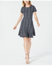 Maison Jules - Plaid Fit & Flare Dress, Created For Macy's - Lyst