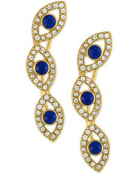 RACHEL Rachel Roy - Gold-tone Blue Stone And Crystal Evil-eye Ear Crawlers - Lyst