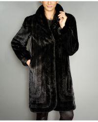 The Fur Vault Mink Fur Coat - Black
