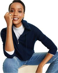 Charter Club Cashmere Zip-front Hoodie, Regular & Petite Sizes, Created For Macy's - Blue