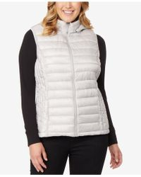 32 Degrees - Plus Size Hooded Packable Down Vest - Lyst