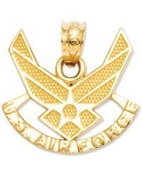Macy's 14k Gold Charm, U.s. Air Force Charm - Metallic