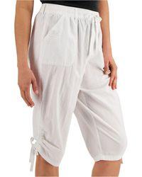 Karen Scott Ruched Denim Skimmer Shorts, Created For Macy's - White
