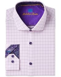 Michelsons Of London - Slim-fit Performance Stretch Fancy Check Dress Shirt - Lyst