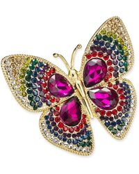 Charter Club Gold-tone Butterfly Boxed Pin, Created For Macy's - Metallic