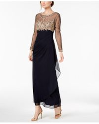 915e31217236 Xscape - Embellished Ruched Gown - Lyst
