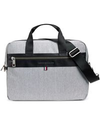 Tommy Hilfiger Leo Heathered Briefcase, Created For Macy's - Gray