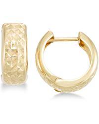 Macy's - Textured Wide Huggie Hoop Earrings - Lyst