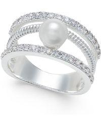 Charter Club | Crystal Imitation Pearl Ring | Lyst