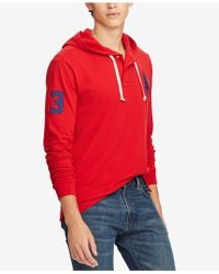 2b204eaf australia lyst polo ralph lauren patchwork cotton blend hoodie for ...