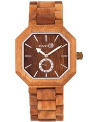 Earth Wood - Acadia Wood Bracelet Watch Olive 43mm - Lyst