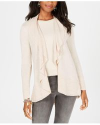 Style & Co. - Petite Draped Open-front Cardigan, Created For Macy's - Lyst