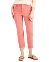 Style & Co. Petite High-rise Straight-leg Crop Jeans, Created For Macy's - Pink