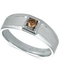 Le Vian Chocolate Diamond Ring (1/5 Ct. T.w.) In 14k White Gold - Metallic