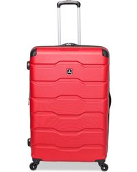 """Revo Tag Matrix 2 28"""" Hardside Expandable Spinner Suitcase - Red"""