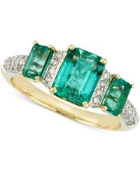 Rare Featuring Gemfields | Certified Emerald (1-7/10 Ct. T.w.) And Diamond (1/5 Ct. T.w.) Ring In 14k Gold | Lyst