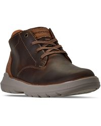 Skechers Relaxed Fit Doveno Molens Oxford Boots From Finish Line - Brown