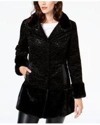 Jones New York - Textured Faux-fur Coat - Lyst
