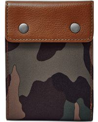 Fossil - Ethan Camo-print Snap Bifold Wallet - Lyst