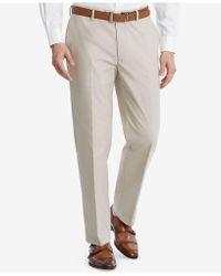 Tommy Hilfiger - Slim-fit Flex Stretch Tan Suit Pants - Lyst
