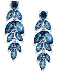 Macy's - Amethyst Vine Drop Earrings (5-3/4 Ct. T.w.) In Sterling Silver (also Available In Garnet, Peridot, & Blue Topaz) - Lyst