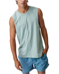 Cotton On Essential Muscle Tank - Blue