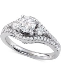 Macy's - Diamond Engagement Ring (1-1/4 Ct. T.w.) In 14k White Gold - Lyst