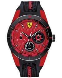 Ferrari - Men's Redrev T Black Silicone Strap Watch 44mm 830255 - Lyst