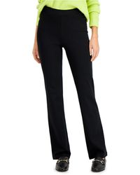 Style & Co. Ponte Knit Bootcut Pants, Created For Macy's - Black