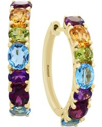 Effy Collection - Mosaic By Effy® Multi-gemstone Hoop Earrings (4 Ct. T.w.) In 14k Gold - Lyst