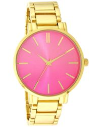 INC International Concepts - Gold-tone Bracelet Watch 40mm, Created For Macy's - Lyst