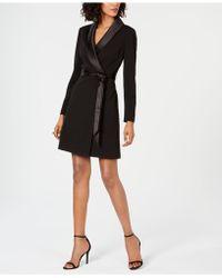 Adrianna Papell Tuxedo Sheath Dress - Black