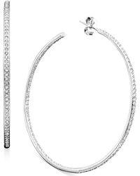 Danori - Earrings, Inside Out Hoop - Lyst