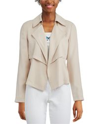 Bar Iii Open-front Trench Jacket, Created For Macy's - Natural