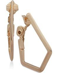 Anne Klein - Geometric Clip-on Hoop Earrings - Lyst