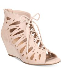 Material Girl - Harlie Lace Up Wedge Sandals, Created For Macy's - Lyst