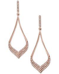 Effy Collection Diamond Drop Earrings (1/3 Ct. T.w.) In 14k Rose Gold - Metallic