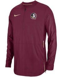 3e65f2d1f60b Nike Men'S Florida Gators Half-Zip Pullover Jacket in White for Men ...