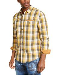 Sean John Mini Check Shirt - Yellow