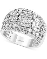 Effy Collection Effy® Diamond Cluster Statement Ring (1-3/4 Ct. T.w.) In 14k White Gold - Metallic