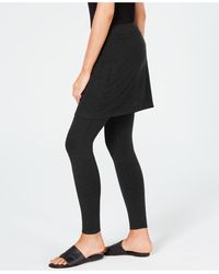 Eileen Fisher System Stretch Jersey Knit Skirted Leggings, Regular & Petite, Created For Macy's - Black