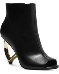 INC International Concepts Aminah Abdul Jillil For Inc Azariah Open-toe Booties, Created For Macy's - Black